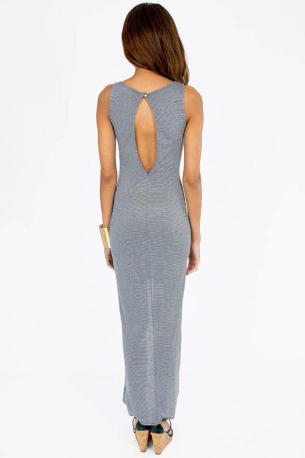 Striped High Lo Dress