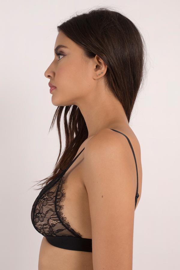 79de7240bcf Cute Black Intimates - Lace Intimates - Eyelash Bralette - Black Bra ...