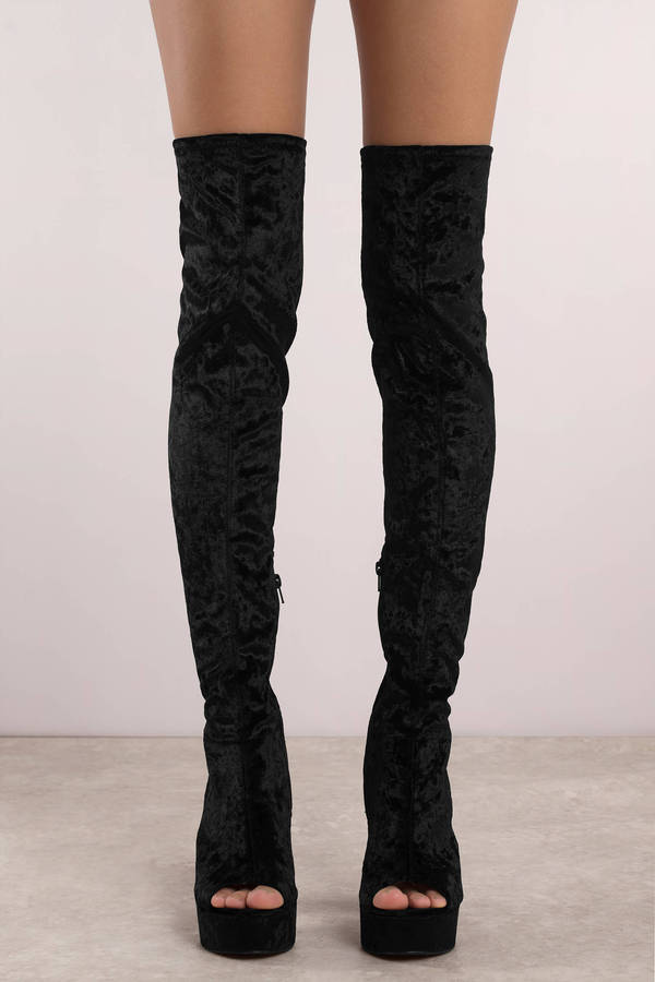Platform leather thigh boots designer andrea cancelieri - 1 part 6