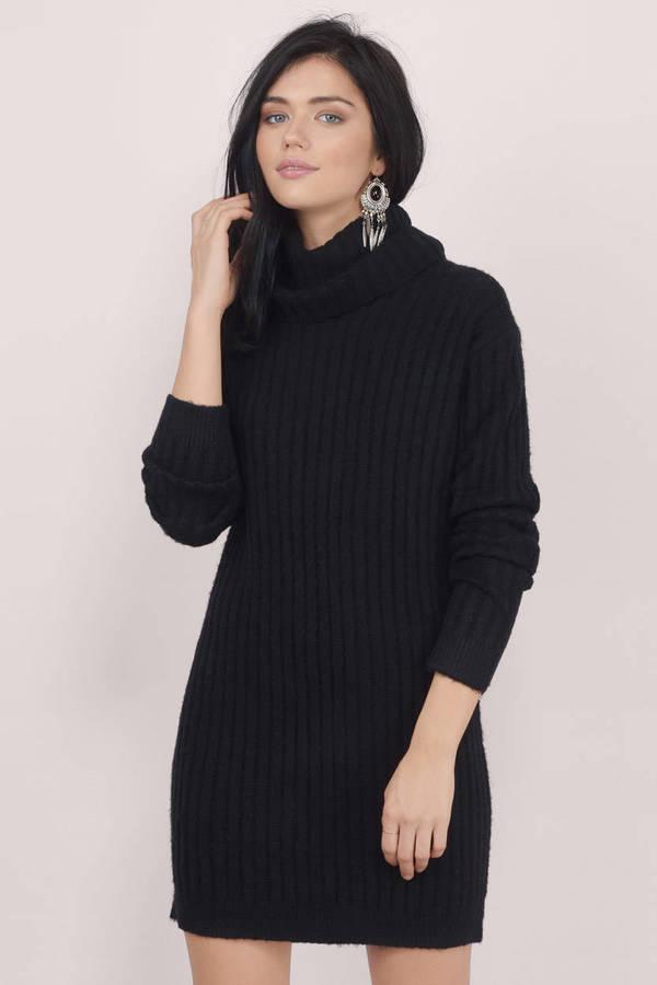 f847e1e00efb Ayda Cowl Neck Black Sweater Dress Ayda Cowl Neck Black Sweater Dress ...
