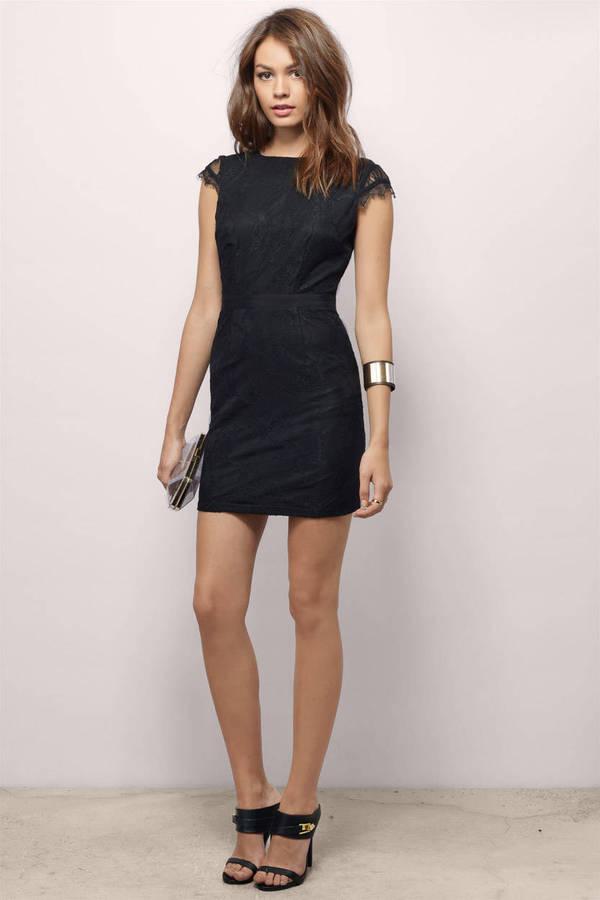 Black Bodycon Dress Low Back Bodycon Dress Black Mini