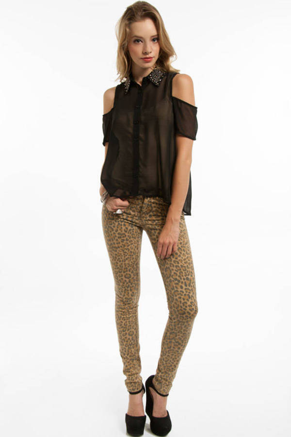 Bejeweled Button Up Shirt