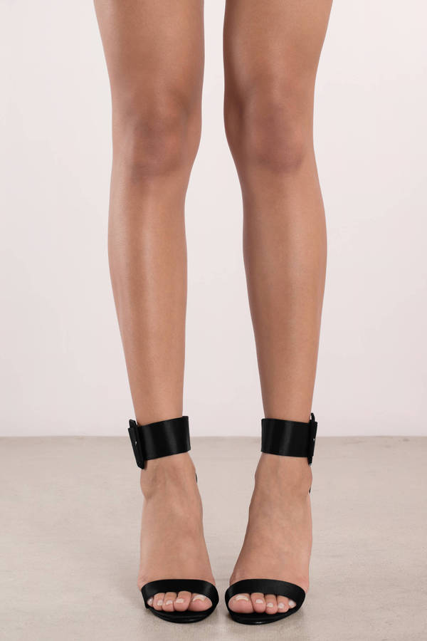 Black Heels - Ankle Strap Heels - Pretty Black Heels - $70 | Tobi US