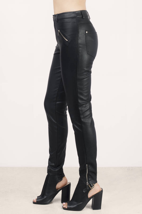 FAIRCHILD $99 Womens Black Faux Leather Skinny Casual Pants L B+B. Sold by BOBBI + BRICKA. $ $ ALFANI $79 Womens New Black Faux Leather Skinny Casual Pants 4 B+B. Sold by BOBBI + BRICKA. $ - $ TheMogan Faux Leather Leggings Skinny Pull On Pants.