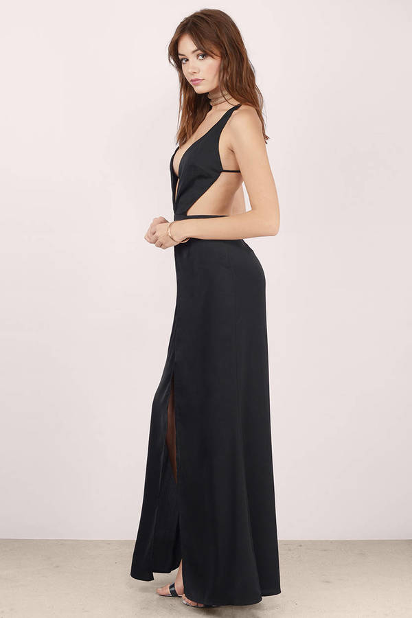 Sexy Black Dress Backless Dress Royal Black Gown