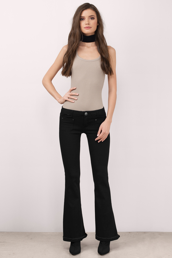 Cheap Black Denim Jeans - Black Jeans - Flared Jeans - $16.00