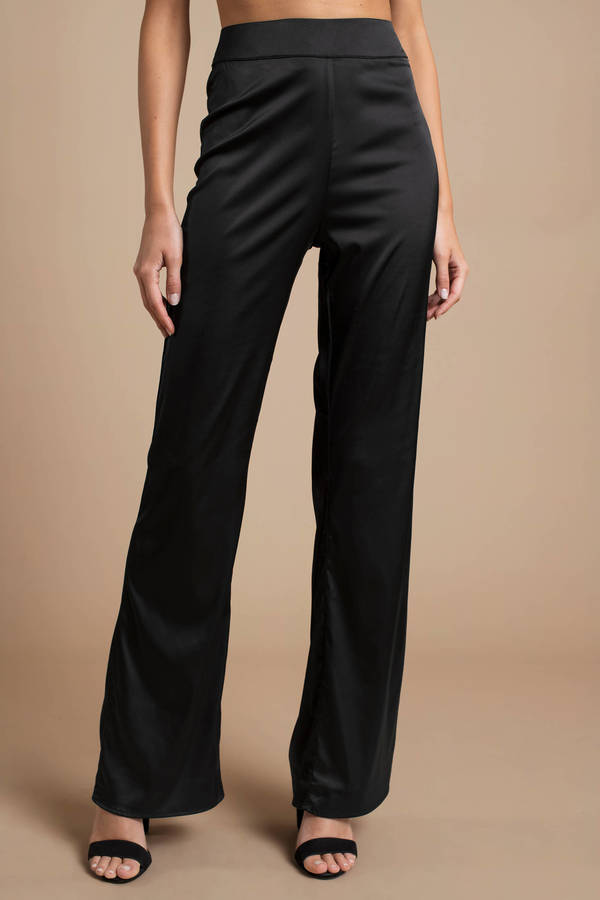 Pants High Waisted Pants Trousers Satin Pants For Women Tobi