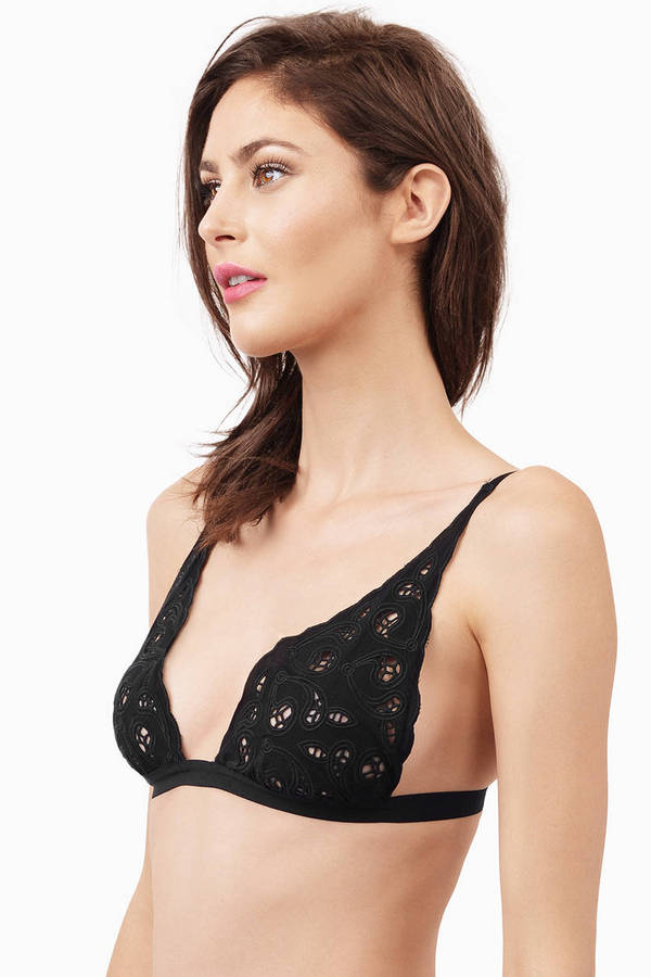 Triangle Bralette. Whether you're talking business or chill, this bralette is the perfect compliment for button-down tops and low-cut looks. With dual-layers of fabric for added softness, this little number has a traditional fit without the annoying underwire.