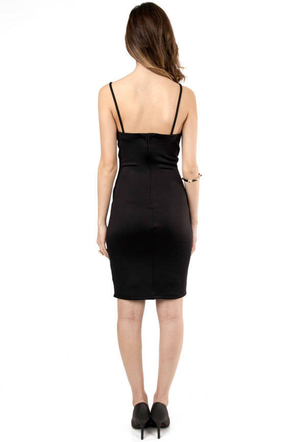 Cindy Mesh Front Bodycon Dress