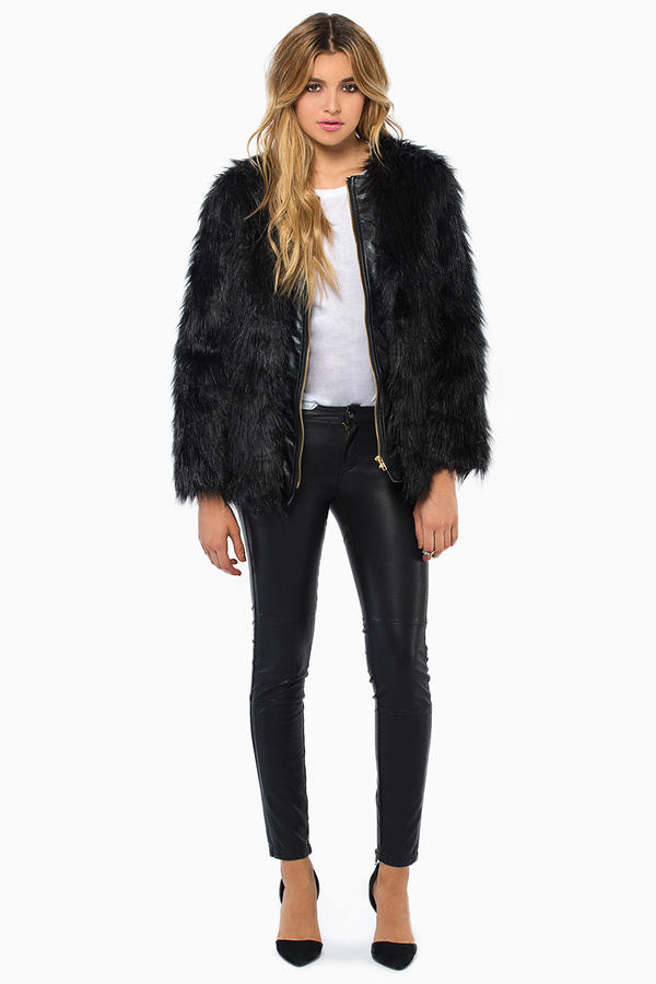 De Philo City Life Faux Fur Coat