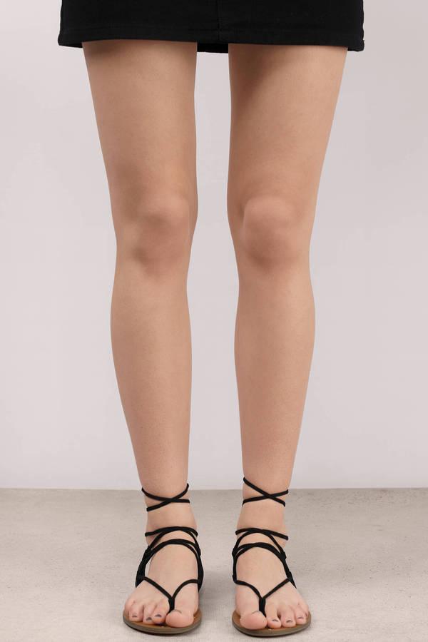 Black Sandals Lace Up Sandals Khaki Sandals Lace