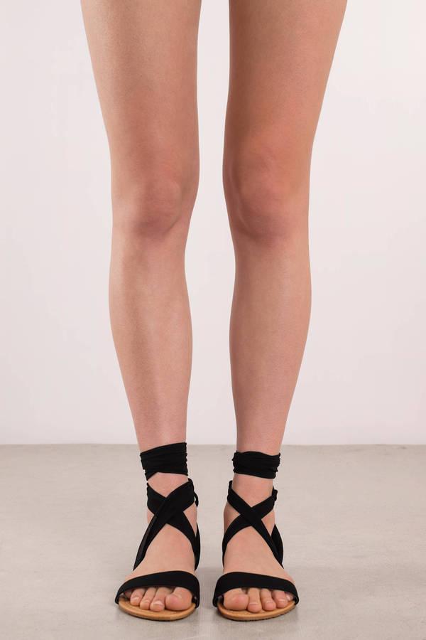 fc3d68a92ae4 Colette Black Ankle Wrap Sandals Colette Black Ankle Wrap Sandals ...