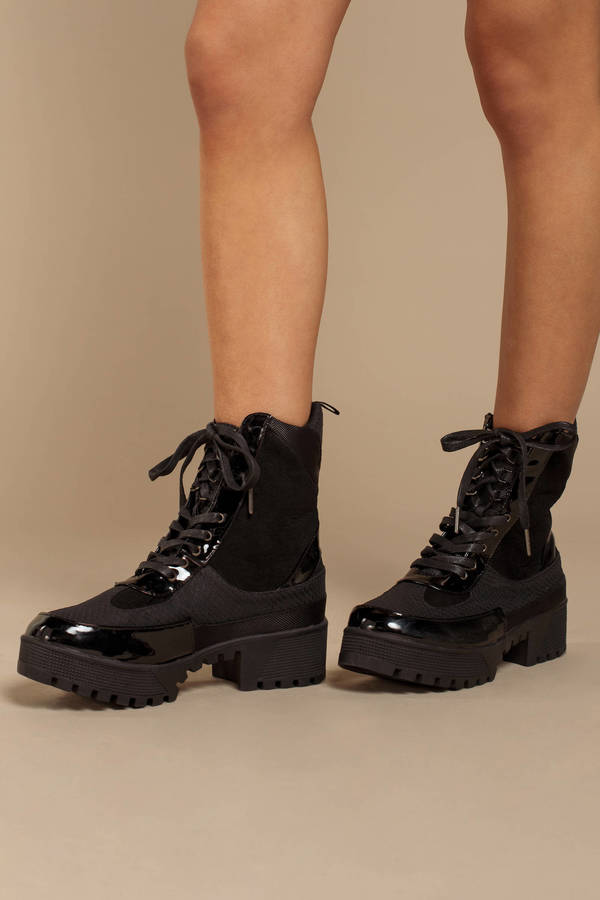 d1aa27e8517 Women's Lace Up Boots & Booties | Black Lace Up Ankle Boots | Tobi