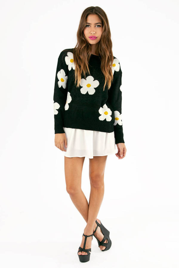 Daisy Knit Sweater