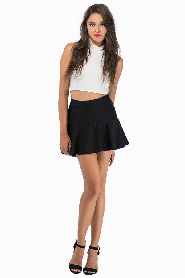 Dark Lines Peplum Skirt