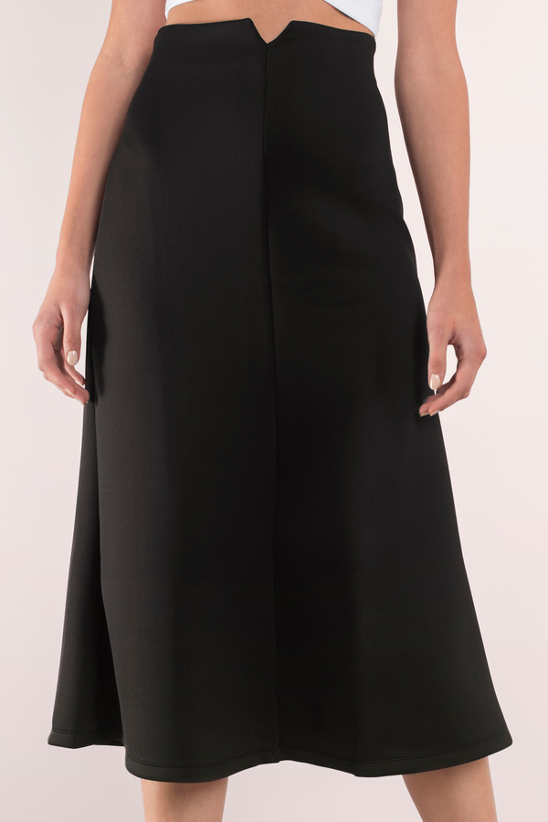 Sexy Black Skirt - Midi Skirt - High Waisted Skirt - Black Skirt ...