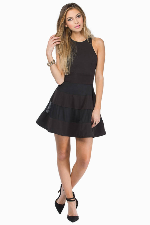 Double Stripes Skater Dress