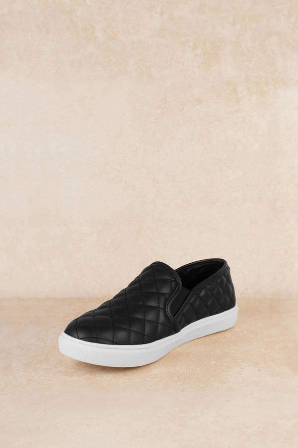 5aa4f0434 ... Steve Madden Steve Madden Eccentric Black Quilted Slip-On Sneakers ...