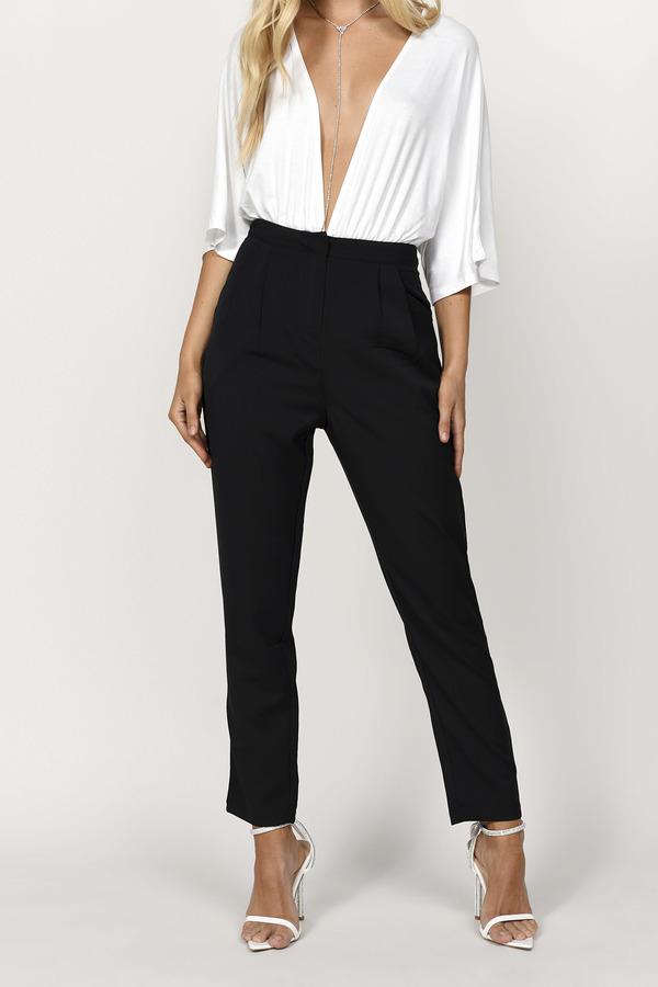 b3f78523ec88 Black Pants - Black Pants - High Waisted Pants - Army Black Pants ...