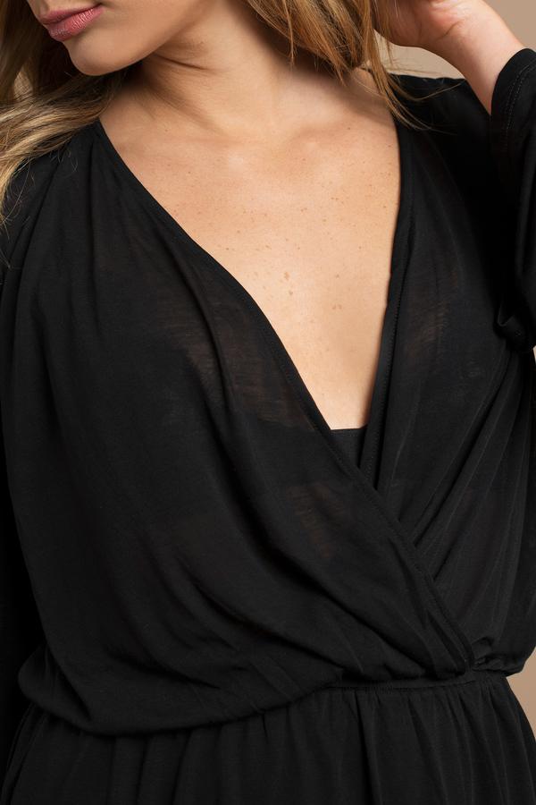 Long bell sleeve cocktail dress