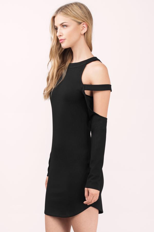 d8f9c16b5da5d Cute Black Bodycon Dress - Cut Out Dress - Bodycon Dress -  14