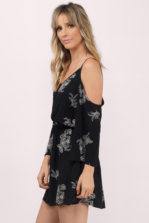 844b187af9b Ellis Black Floral Print Shift Dress Ellis Black Floral Print Shift Dress  ...