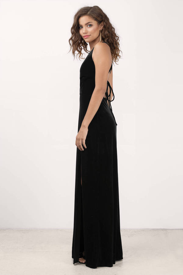 Embrace Me Black Velvet Maxi Dress - $70.00 | Tobi