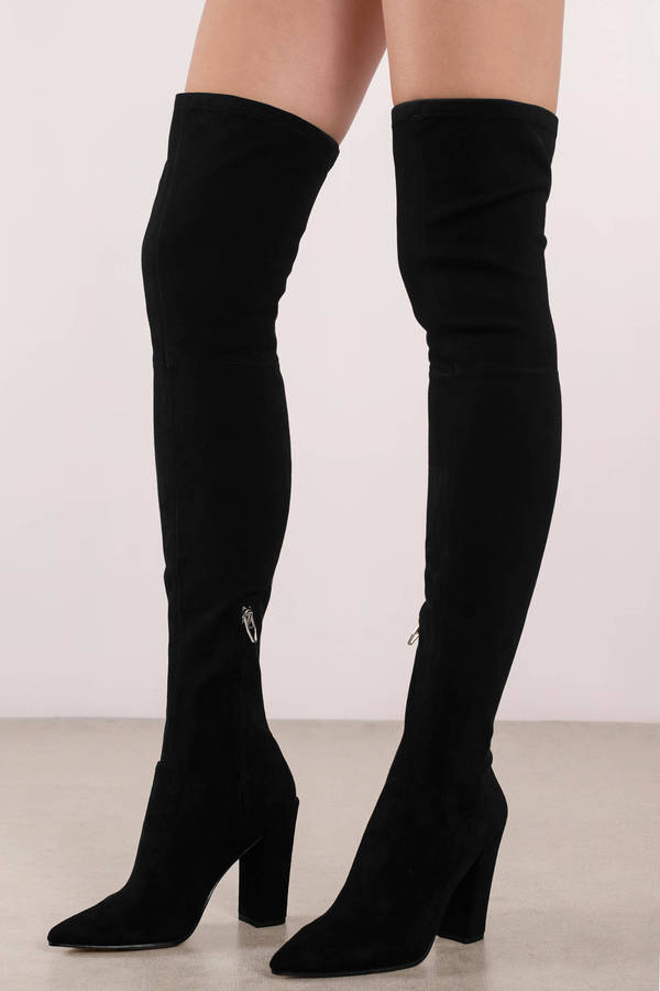 a76f52bcc71a89 Black Dolce Vita Boots - Studded Thigh High Boots - Tall Black Edgy ...
