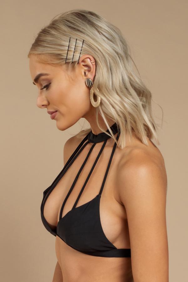 b272af4af8e4 Eternity Black Strappy Choker Bikini Top Eternity Black Strappy Choker Bikini  Top ...