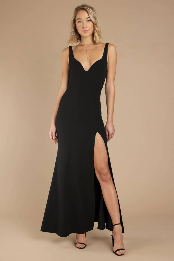 Beautiful sexy prom dresses black dance