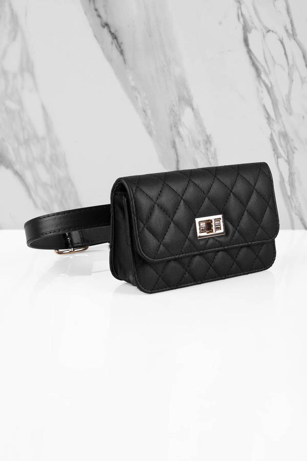 Everything Nice Black Quilted Fanny Pack - 40  Tobi Us-4765