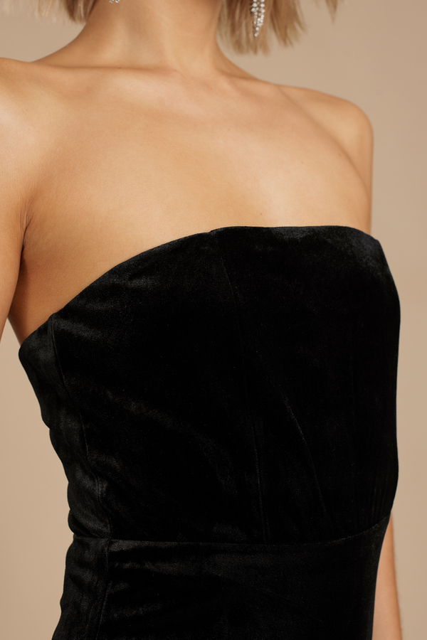 Fire And Desire Black Velvet Bodycon Dress