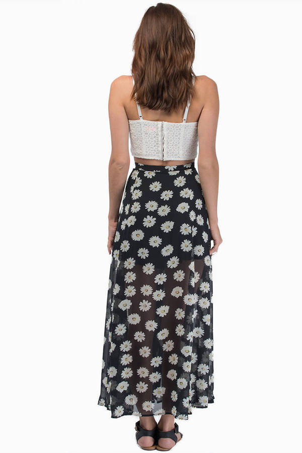 Lucca Couture Famous Daisy Maxi Skirt