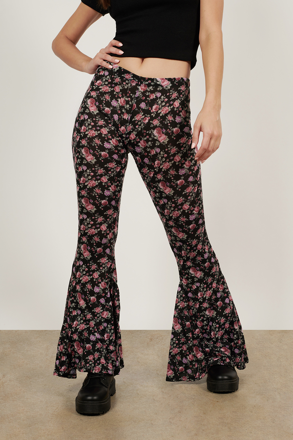 Floral A-Flare Pants