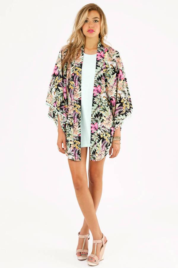 Reverse Floral Kimono