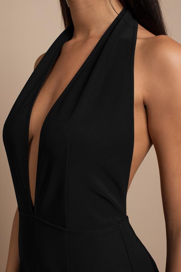 Wine Maxi Dress - Wine Dress - Deep V Dress - $35 | Tobi US