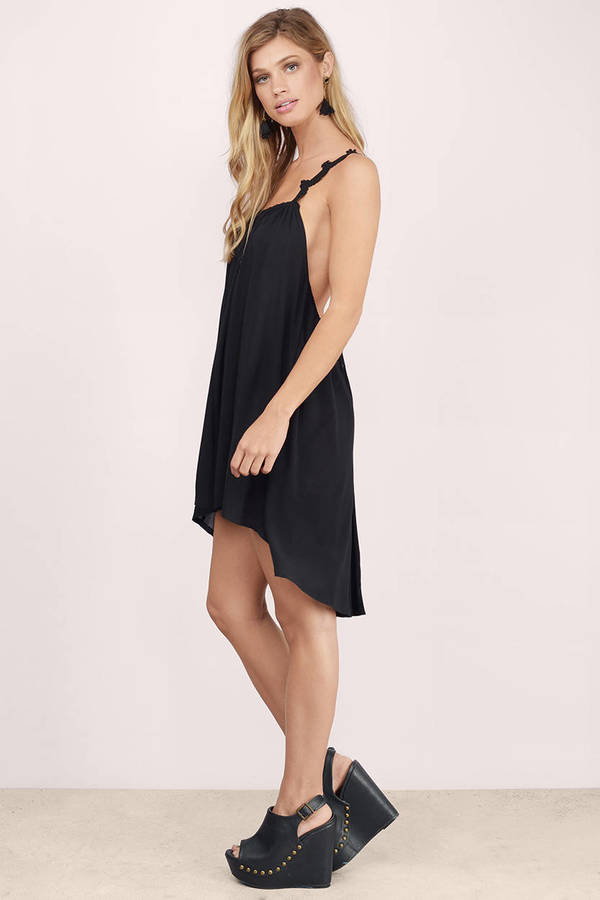 Sexy Black Day Dress - Criss Cross Dress - $8.00