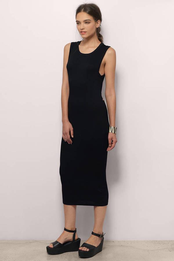 Midi Dresses White Lace Midi Dress Black Long Sleeve Tobi