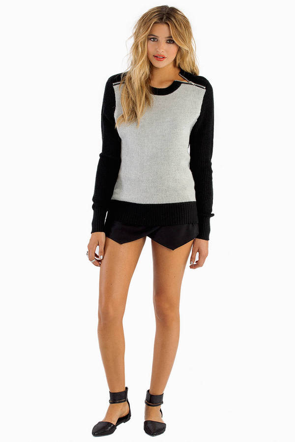 Zippered Panes Sweater