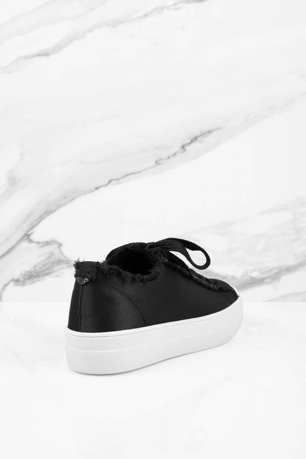 f1dcc0366df Steve Madden Greyla Black Satin Sneakers Steve Madden Greyla Black Satin  Sneakers ...