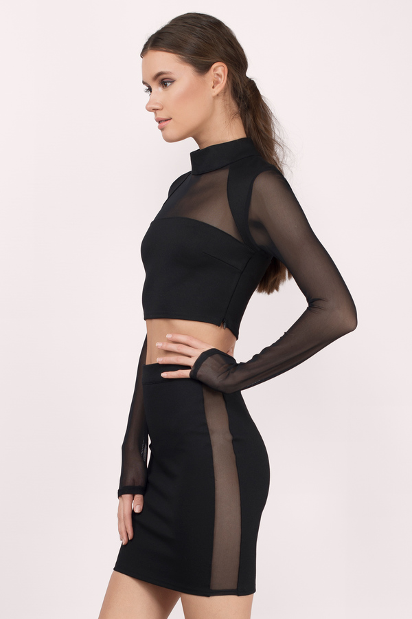 Black Bodycon Dress Black Dress Sheer Dress Black Bodycon