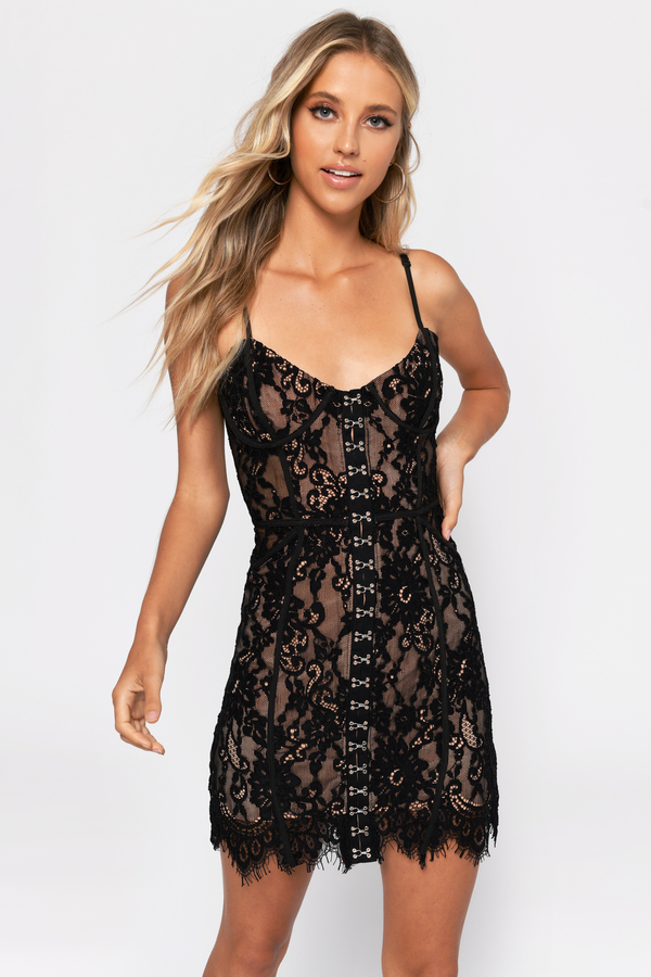 a85143192b64a ... Tobi Club Dresses, Black, Honeymoon Lace Bodycon Dress, Tobi