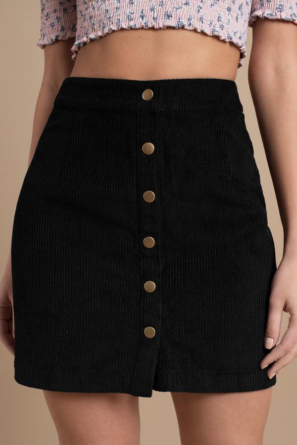 304bcd754e Cute Black Skirt - A Line Skirt - Corduroy Skirt - Black Skirt - $17 ...