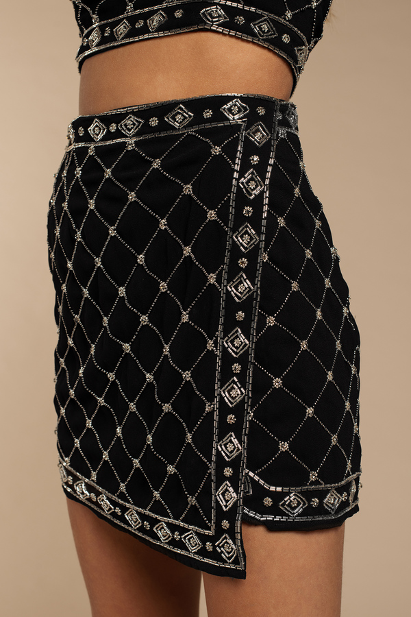 1bb42c190 In The Moment Black Embellished Skirt In The Moment Black Embellished Skirt  ...