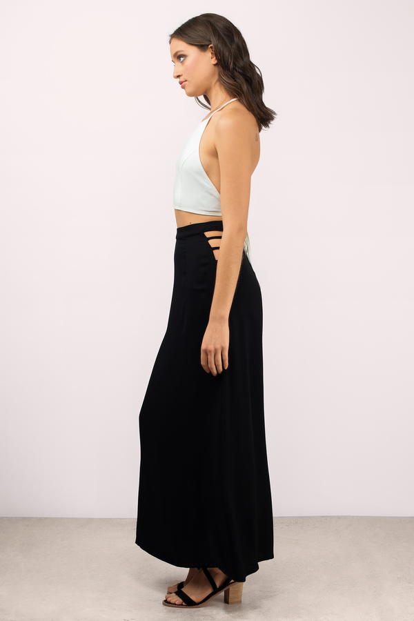 Cute Black Skirts - High Waisted Skirts - $26.00