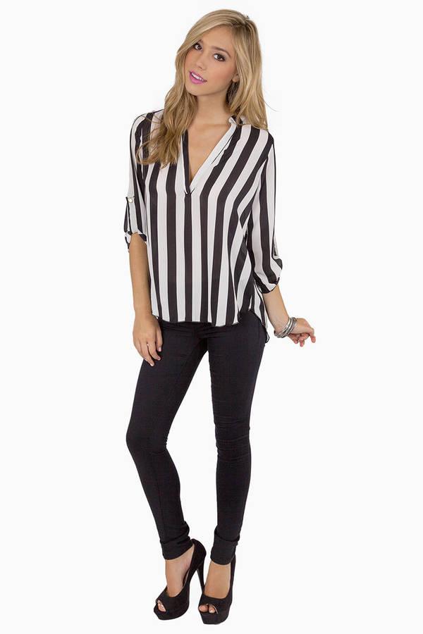 Stripe Tease Blouse