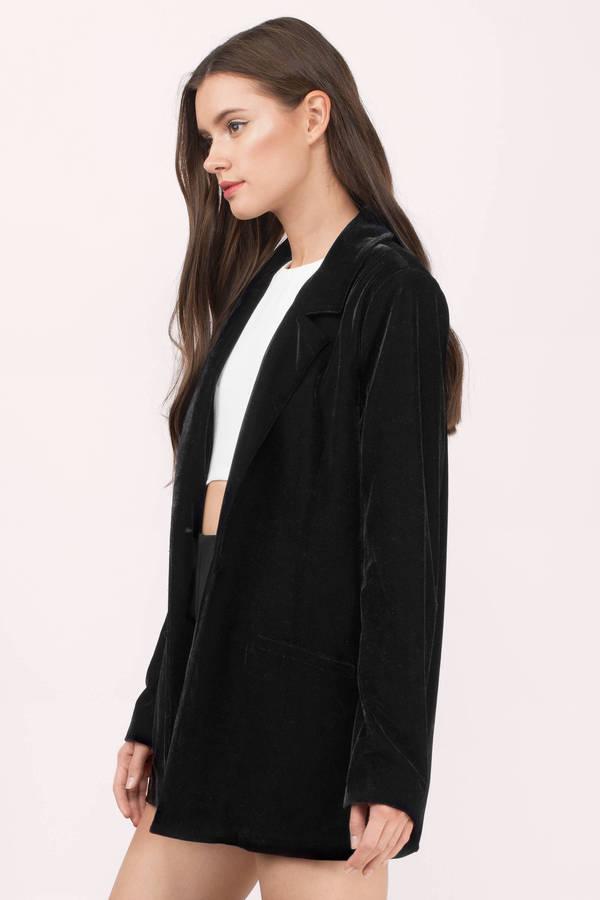 Cheap Black Blazer - Black Blazer - Boyfriend Blazer - $36 | Tobi US