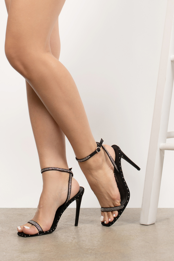 Black Chinese Laundry Heels - Ankle