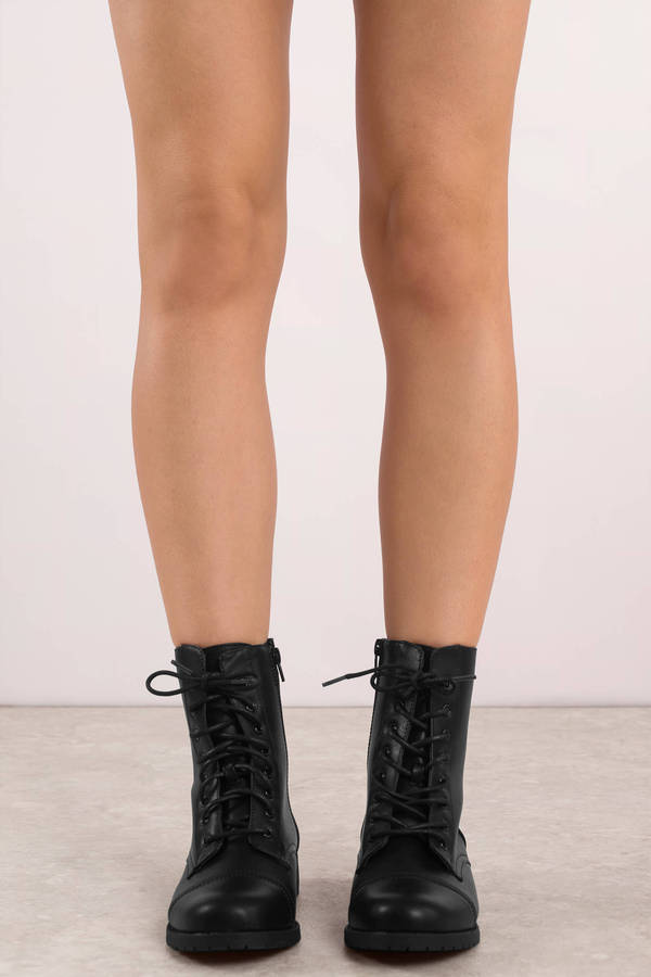 ... Tobi Heeled Booties, Black, Jane Lace Up Combat Boots, Tobi