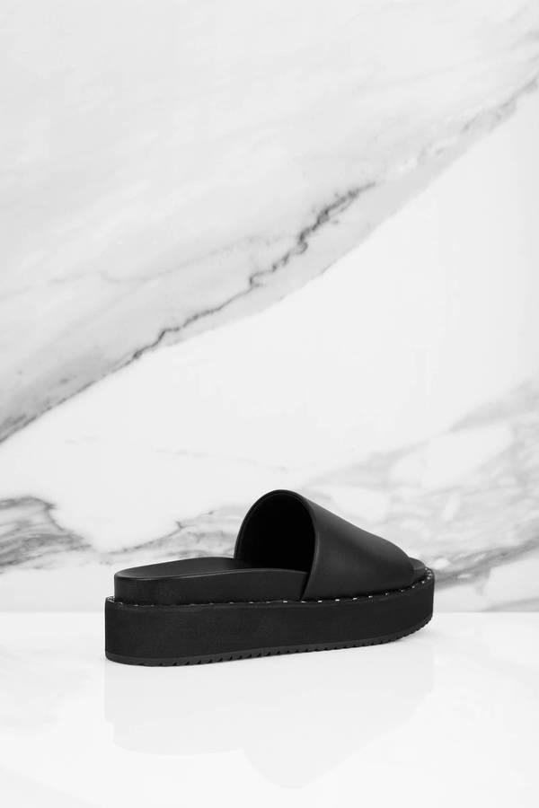 c890f32fe19 ... Steve Madden Steve Madden Jen Black Studded Slide On Sandal ...
